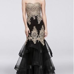 Black and Gold Night Studio Formal Gown
